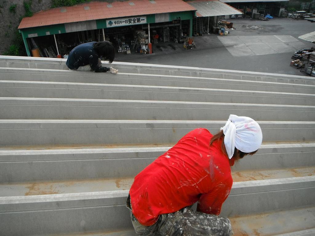 工場屋根塗装工事