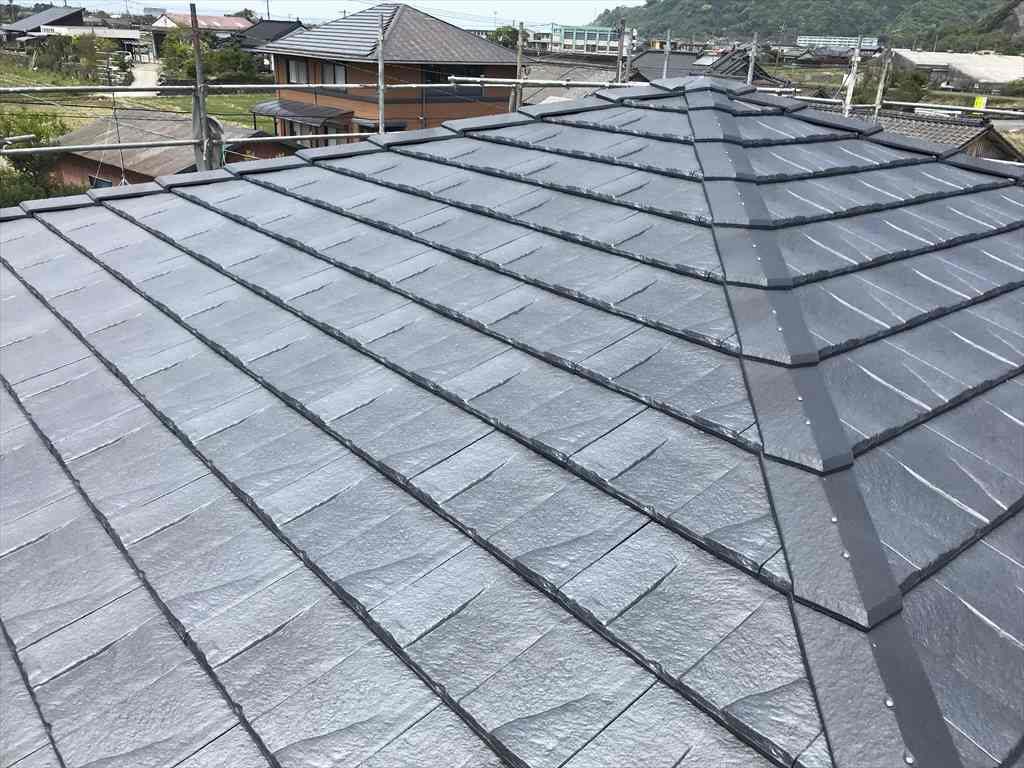 屋根葺き替え工事:垂水市高城 M様邸