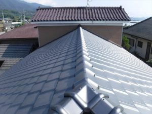 屋根葺き替え工事:垂水市柊原 O様邸