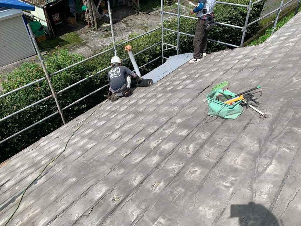 屋根葺き替え工事:鹿屋市串良町 K様邸