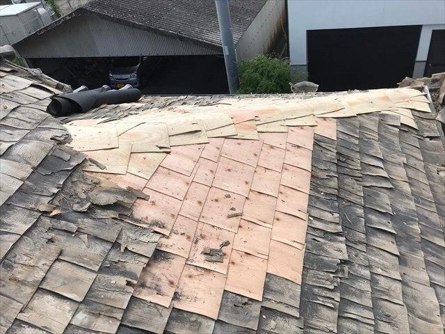 屋根補修工事:垂水市牛根麓 K様邸