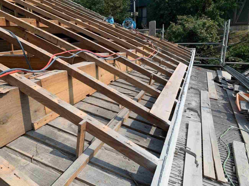 屋根葺き替え工事:鹿屋市高須町 F様邸