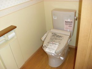 トイレ取付工事