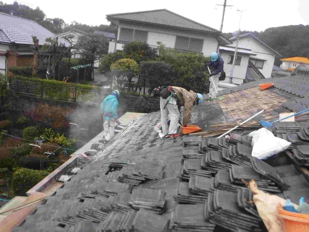 屋根一部締め直し工事:鹿屋市今坂町 Y様邸