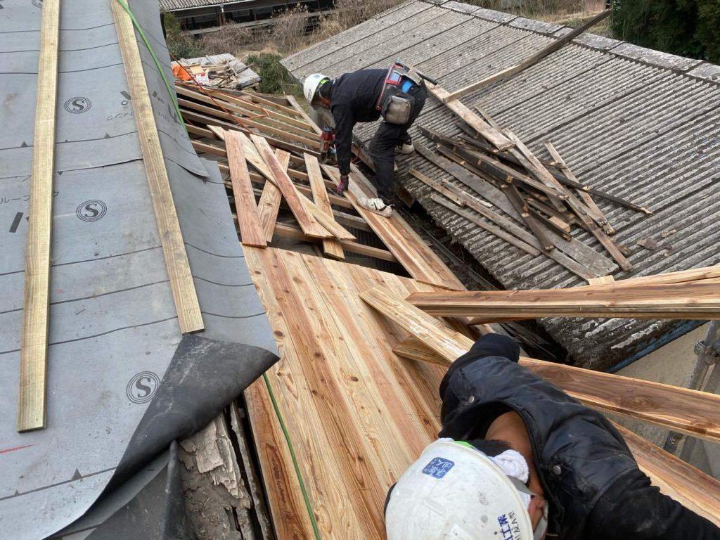 屋根葺き替え工事:鹿屋市輝北町 N様邸