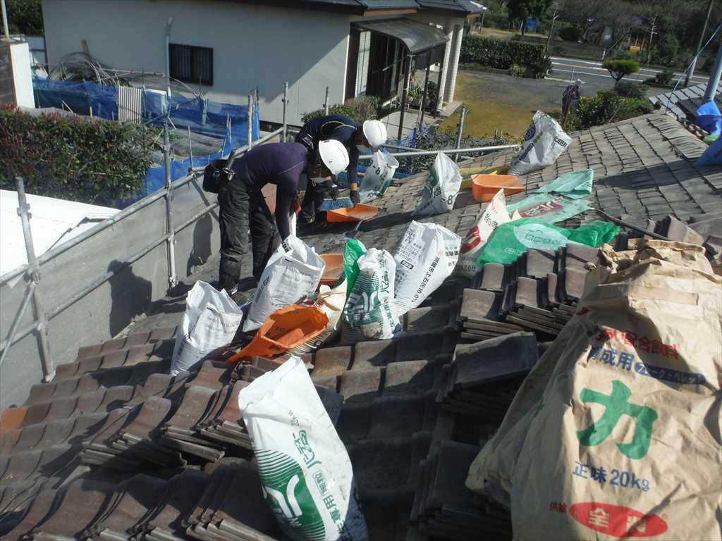 屋根締め直し工事:垂水市浜平 I様邸