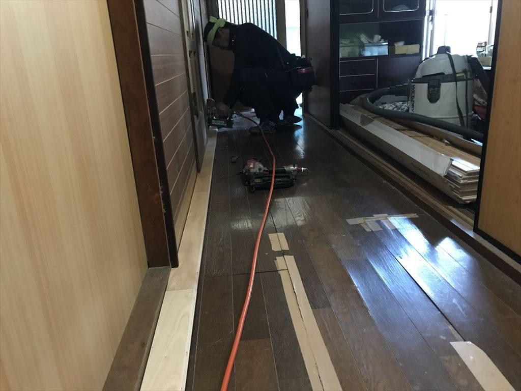 フローリング張替え工事:垂水市浜平 M様邸