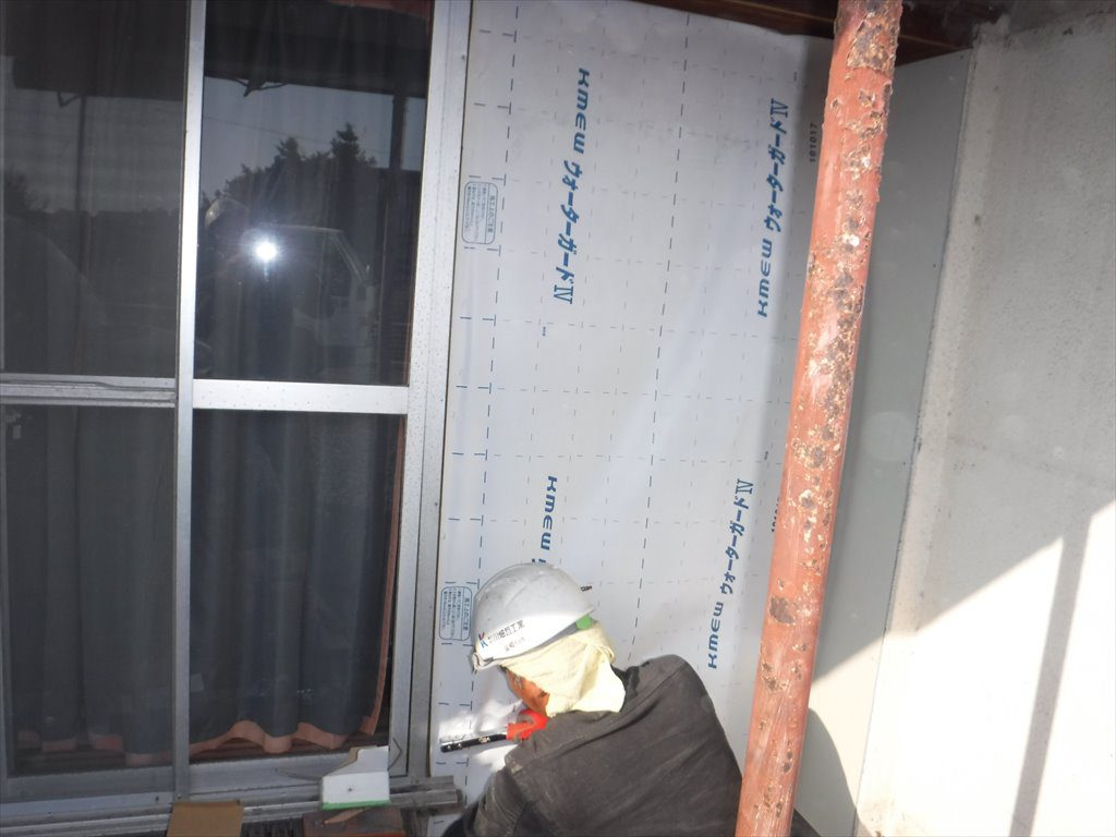 洗濯物干し場新設工事:垂水市田神 M様邸