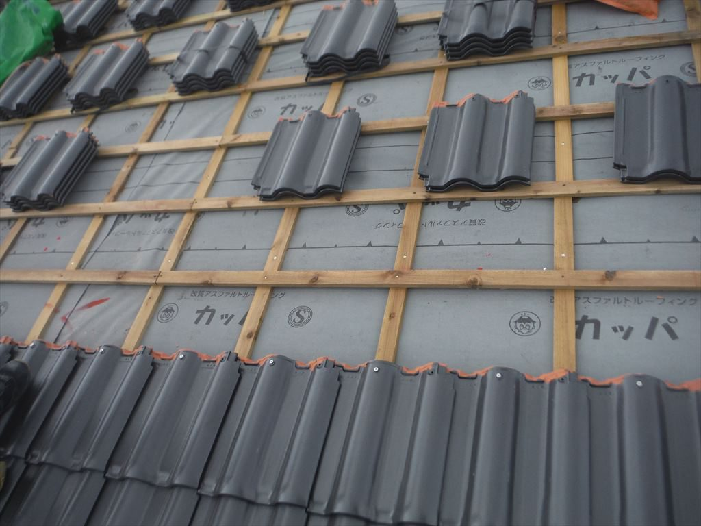 屋根葺き替え工事:鹿屋市串良町 T様邸