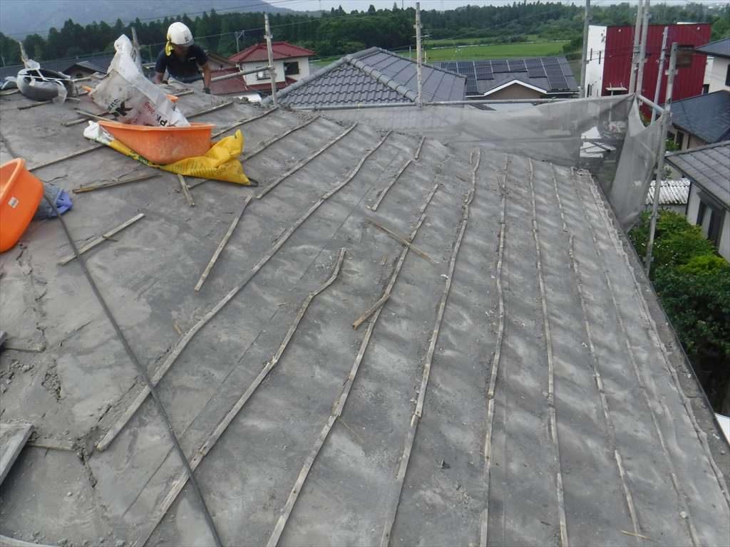屋根葺き替え工事:鹿屋市西原 H様邸