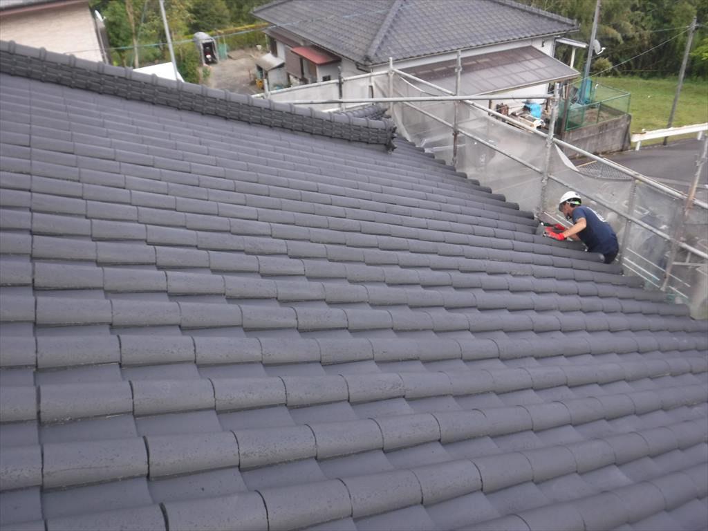 屋根塗装工事:鹿屋市打馬 T様邸