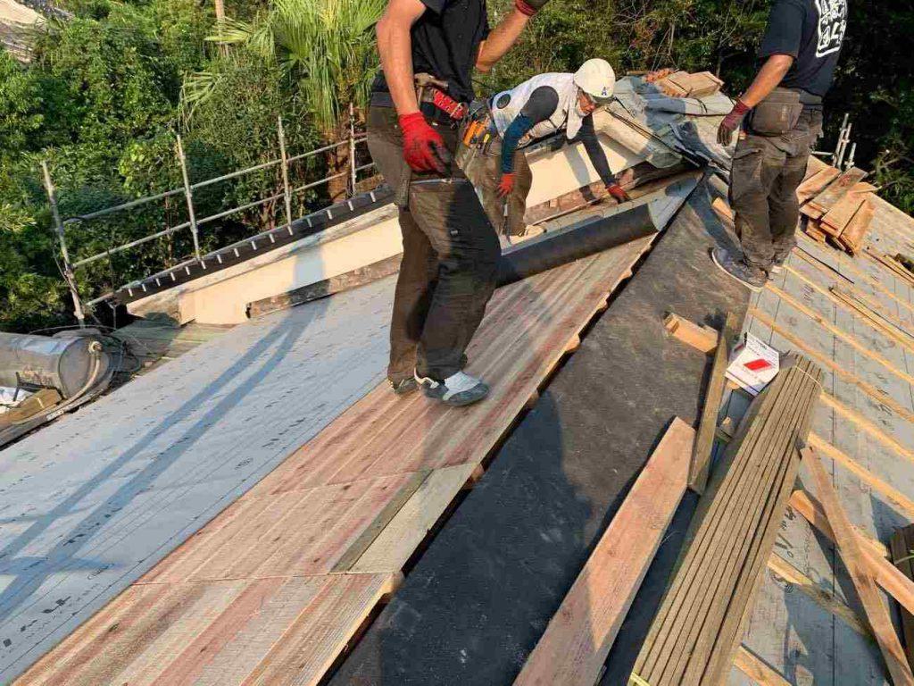 屋根葺き替え工事:鹿屋市花岡町 M様邸