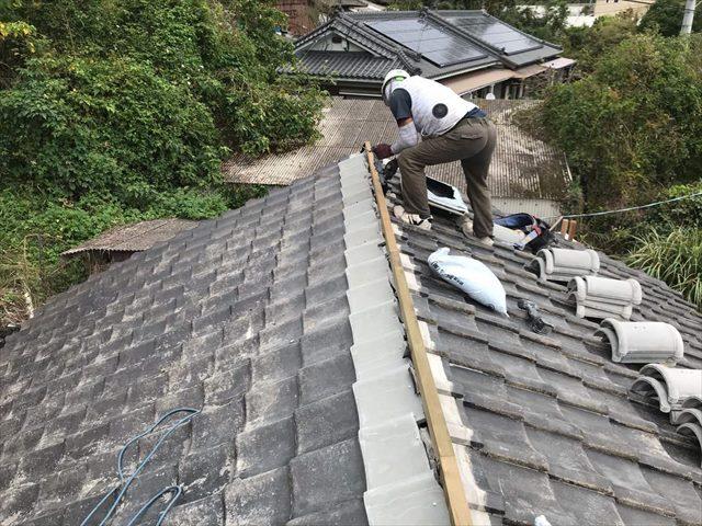 屋根一部締め直し工事:垂水市田神 F様邸