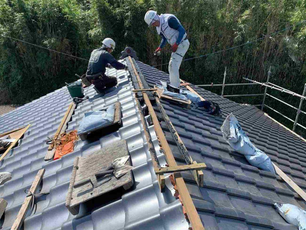 屋根葺き替え工事:鹿屋市白水町 S様邸